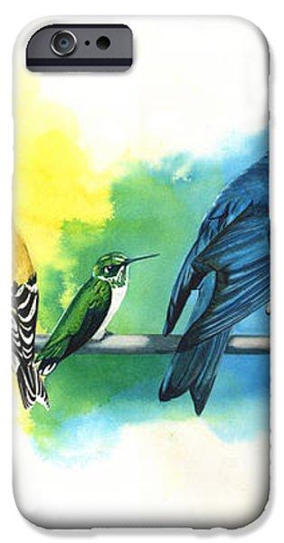 Rainbow Birds iPhone Case by Antony Galbraith