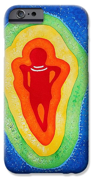 Rainbow Body original painting iPhone Case by Sol Luckman