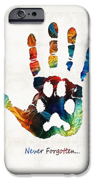 Honor iPhone Cases - Rainbow Bridge Art - Never Forgotten - By Sharon Cummings iPhone Case by Sharon Cummings