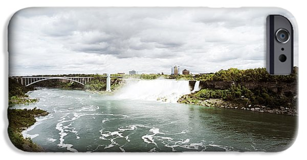 Niagara Falls iPhone Cases - Rainbow Bridge At Niagara Falls iPhone Case by Panoramic Images