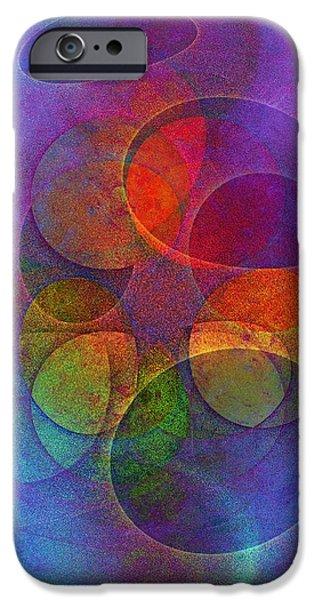 Rainbow Bubbles iPhone Case by Klara Acel