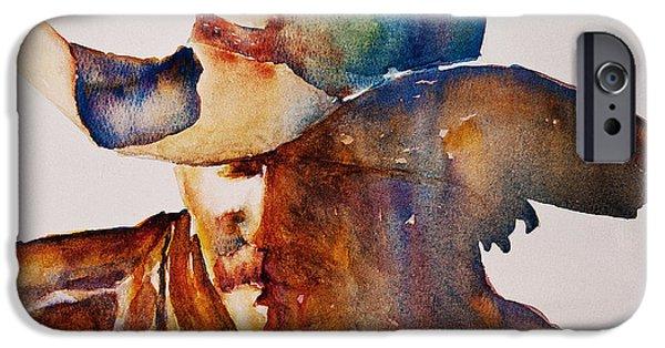 Freimann iPhone Cases - Rainbow Cowboy iPhone Case by Jani Freimann