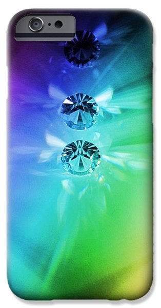 Glass Reflections iPhone Cases - Rainbow Crystals iPhone Case by Marianna Mills