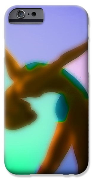 Sports Pastels iPhone Cases - Rainbow Dance iPhone Case by Tony Rubino