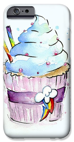 Little iPhone Cases - Rainbow-Dash-Themed Cupcake iPhone Case by Olga Shvartsur