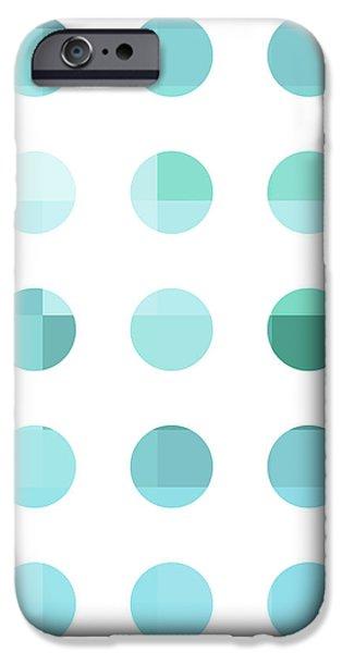 Rainbow Dots Aqua  iPhone Case by Pixel Chimp