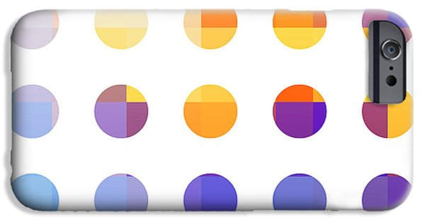 Business Digital Art iPhone Cases - Rainbow Dots  iPhone Case by Pixel Chimp