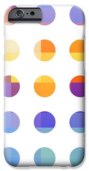 Rainbow Dots  iPhone Case by Pixel Chimp
