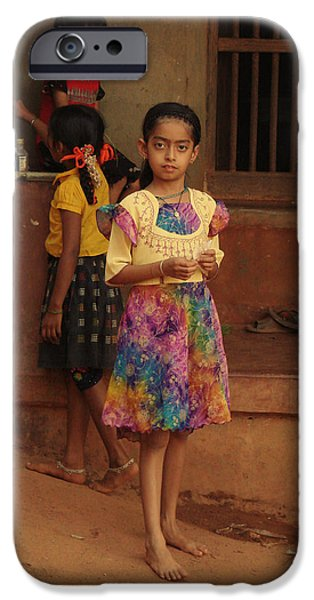 Rainbow Dress. Indian Collection iPhone Case by Jenny Rainbow