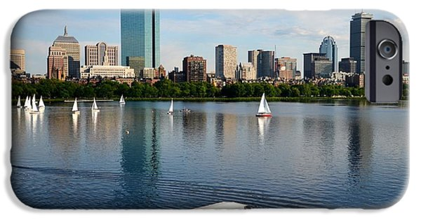 Charles River iPhone Cases - Rainbow Duck boat on the Charles iPhone Case by Toby McGuire