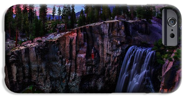 Meadow Photographs iPhone Cases - Rainbow Falls Devils Postpile National Monument iPhone Case by Scott McGuire