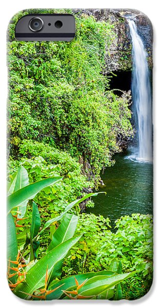 Rainforest iPhone Cases - Rainbow Falls iPhone Case by Duane Miller