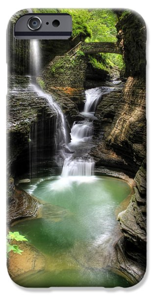 Upstate New York iPhone Cases - Rainbow Falls iPhone Case by Lori Deiter