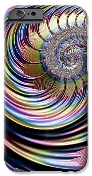 Chaos iPhone Cases - Rainbow Fronds iPhone Case by John Edwards