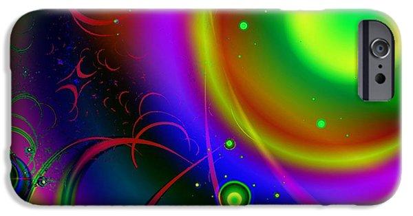 Planets iPhone Cases - Rainbow Halo iPhone Case by Anastasiya Malakhova
