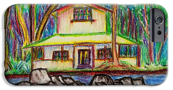 House Pastels iPhone Cases - Rainbow House iPhone Case by W Gilroy