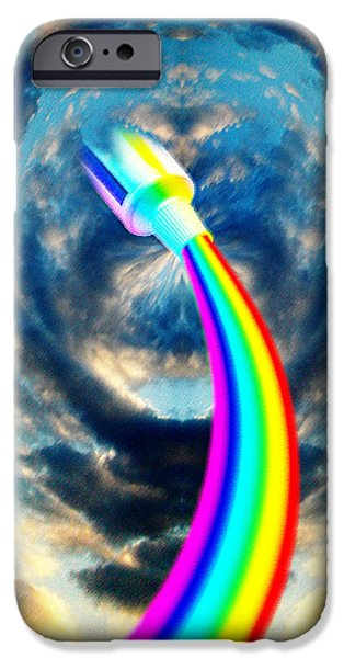 Mascots Mixed Media iPhone Cases - Rainbow In A Tube iPhone Case by Neil Finnemore