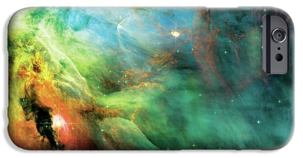 Cosmo iPhone Cases - Rainbow Orion Nebula iPhone Case by The  Vault - Jennifer Rondinelli Reilly
