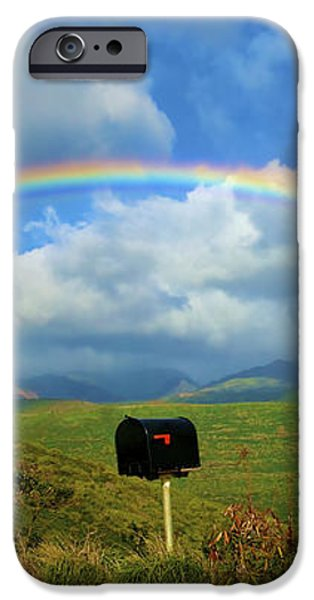 Rainbow Over a Mailbox iPhone Case by Kicka Witte