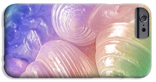 Abalones iPhone Cases - Rainbow Pearl Treasure iPhone Case by Gill Billington