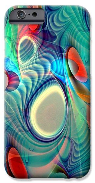 White Digital Art iPhone Cases - Rainbow Play iPhone Case by Anastasiya Malakhova