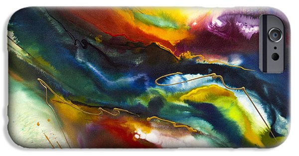 Recently Sold -  - Abstract Expressionist iPhone Cases - Rainbow River iPhone Case by Jonas Gerard