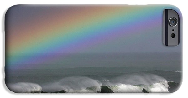Steamer Lane iPhone Cases - Rainbow Storm iPhone Case by Ru Tover