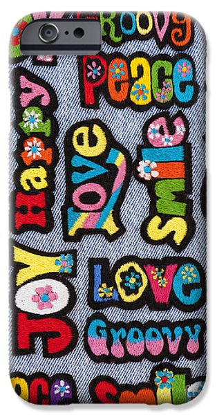 Psychedelic Photographs iPhone Cases - Rainbow Text iPhone Case by Tim Gainey