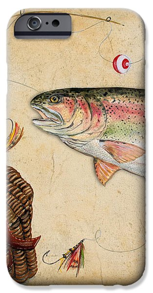Rainbow Trout iPhone Case by Jean Plout
