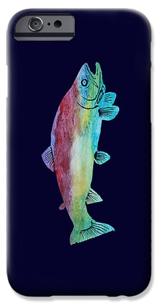 Fresh Water Fish iPhone Cases - Rainbow Trout iPhone Case by Jenny Armitage