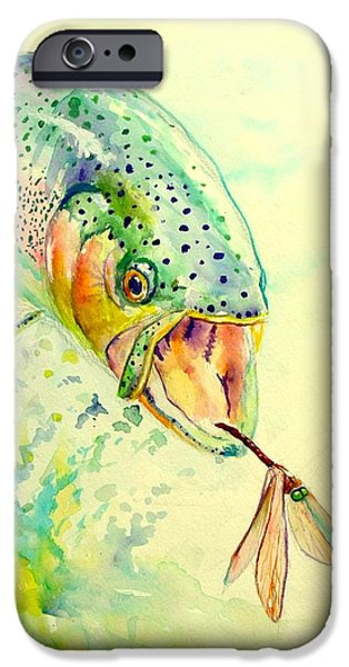 Redfish iPhone Cases - Rainbow Vs Dragon  iPhone Case by Yusniel Santos