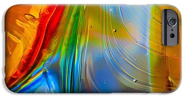 Alga iPhone Cases - Rainbow Waterfalls iPhone Case by Omaste Witkowski