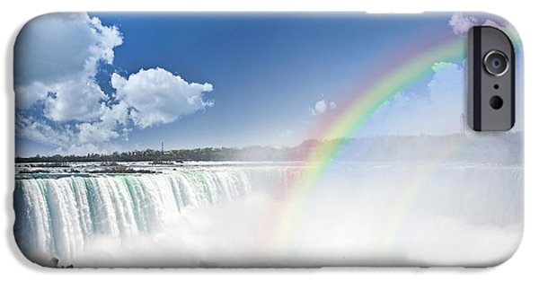 Spectacular iPhone Cases - Rainbows at Niagara Falls iPhone Case by Elena Elisseeva