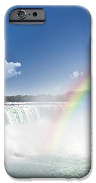 Rainbows at Niagara Falls iPhone Case by Elena Elisseeva