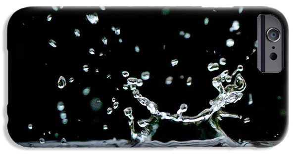 Contemporary Abstract Photographs iPhone Cases - Raindrop iPhone Case by Lisa Knechtel