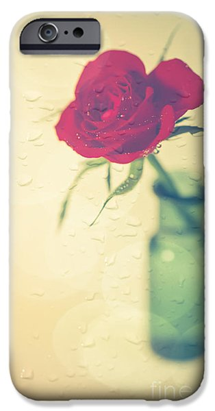 Raining iPhone Cases - Raindrops on Roses . . . iPhone Case by Jan Bickerton