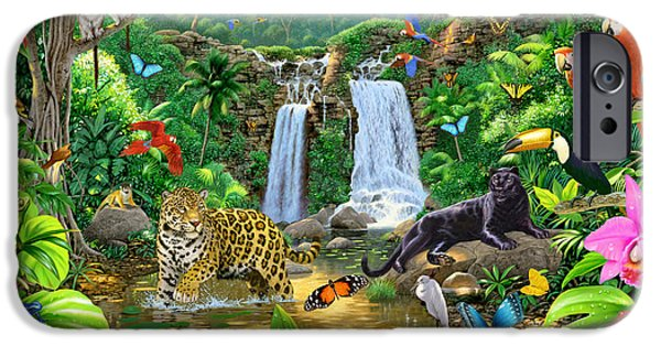 Animals Photographs iPhone Cases - Rainforest Harmony Variant 1 iPhone Case by Chris Heitt