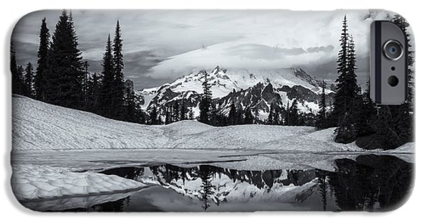 Mt iPhone Cases - Rainier Reflections iPhone Case by Mike  Dawson