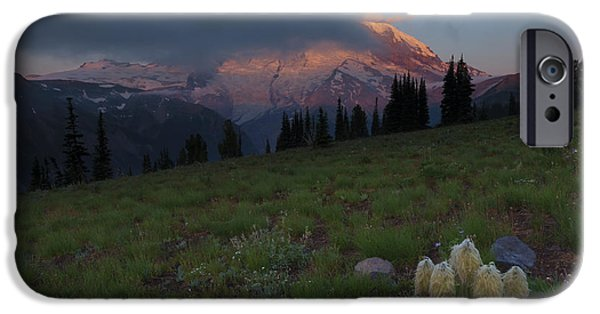 Mt Rainier iPhone Cases - Rainier Revealed iPhone Case by Mike  Dawson