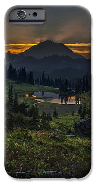 Rainier Sunset Basin iPhone Case by Mike Reid