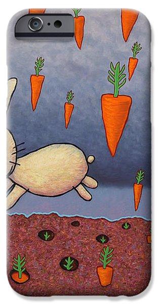 Raining Carrots iPhone Case by James W Johnson