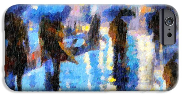 Rainy Day iPhone Cases - Raining In Italy Abstract Realism iPhone Case by Georgiana Romanovna