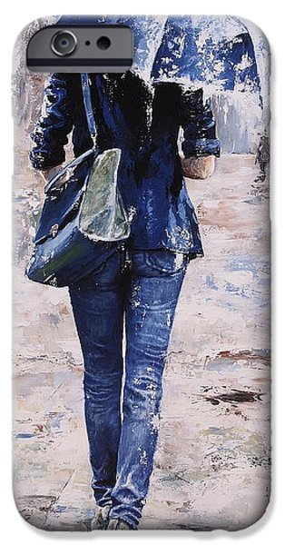 Rainy Day iPhone Cases - Rainy day #22 iPhone Case by Emerico Imre Toth