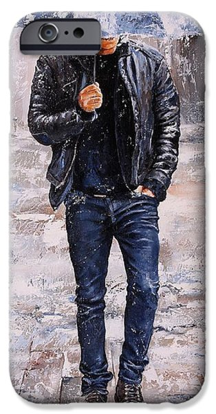 Rainy Day iPhone Cases - Rainy Day #23 iPhone Case by Emerico Imre Toth