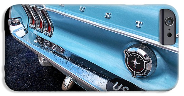Rainy Day iPhone Cases - Rainy Day Blues - 67 Mustang iPhone Case by Gill Billington