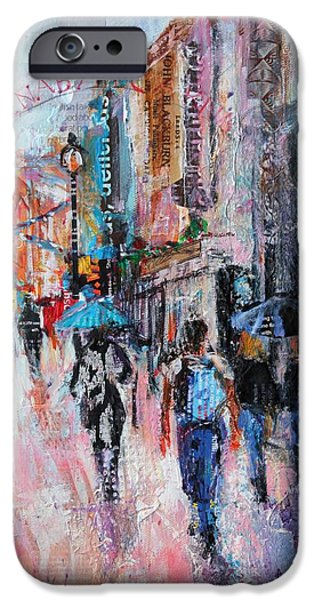 Rainy Day iPhone Cases - Rainy Day  Carnaby Street iPhone Case by Sylvia Paul