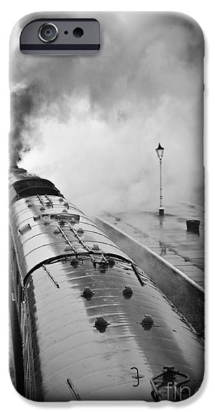 Duchess iPhone Cases - Rainy Day Departure iPhone Case by David Birchall