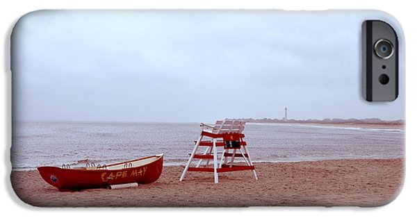 4th July Digital Art iPhone Cases - Rainy Day in Cape May iPhone Case by Bill Cannon
