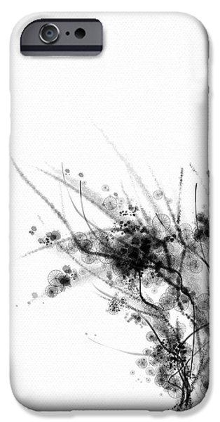 Night Lamp Mixed Media iPhone Cases - Rainy Day iPhone Case by Len YewHeng