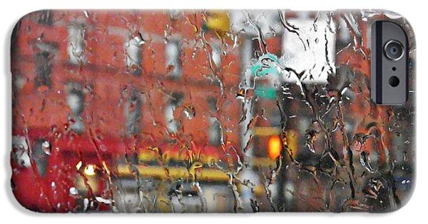 Rainy Day iPhone Cases - Rainy Day NYC 2 iPhone Case by Sarah Loft
